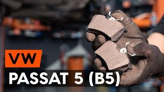 How to replace rear brake pads / rear brake pad set on VW PASSAT 5 (B5) [TUTORIAL AUTODOC]