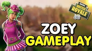 Fortnite - Zoey Skin FUNNY MOMENTS!!