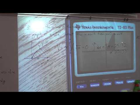 Price AP Calculus AB - 7-2a - Volume by Disc Method