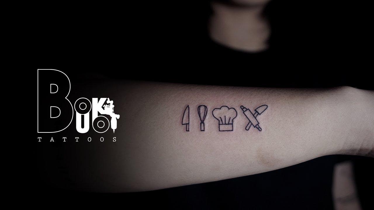 Small Tattoo Kitchen Tools By Bukboo