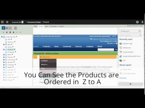 Kentico - Sorting & Paging Of Product Data List - Raybiztech - The Leading Partner