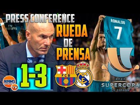 Rueda de prensa ZIDANE post Barcelona 1-3 Real Madrid FINAL SUPERCOPA ESPAÑA 2017