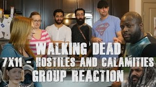 Video The Walking Dead - 7x11 Hostiles and Calamities - Group Reaction download MP3, 3GP, MP4, WEBM, AVI, FLV November 2017