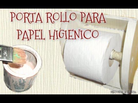 C mo hacer un porta rollo para papel higi nico con for Accesorio para papel higienico