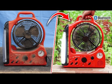 Restoration And Upgrade Bluetooth Speaker For Multifunction Fan From Scrap Store