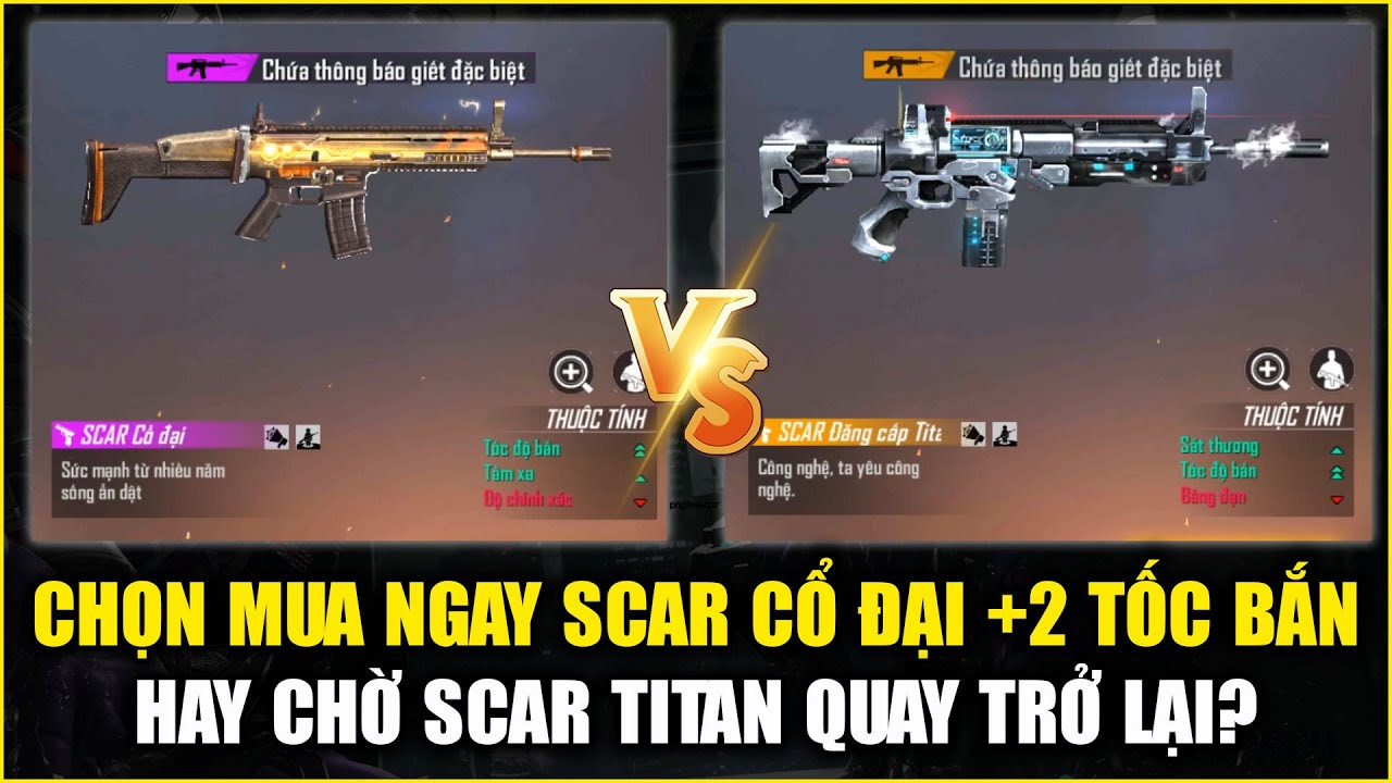 Free Fire | Bạn Nên Mua Ngay SCAR Cổ Đại Hay Chờ SCAR Đẳng Cấp Titan Quay Lại? | Rikaki Gaming