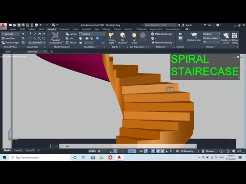 SPIRAL STAIRCASE 3D