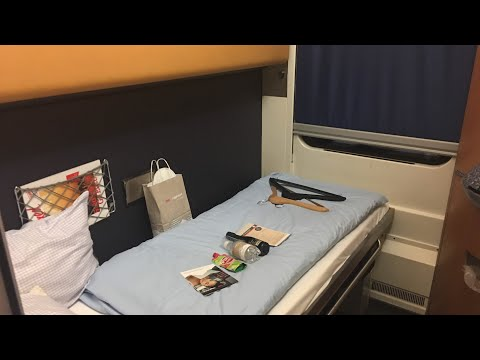 Inside Sleeping Car ÖBB Nightjet Train Zurich - Hamburg