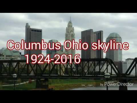 Columbus Ohio skyline.  1924-2016