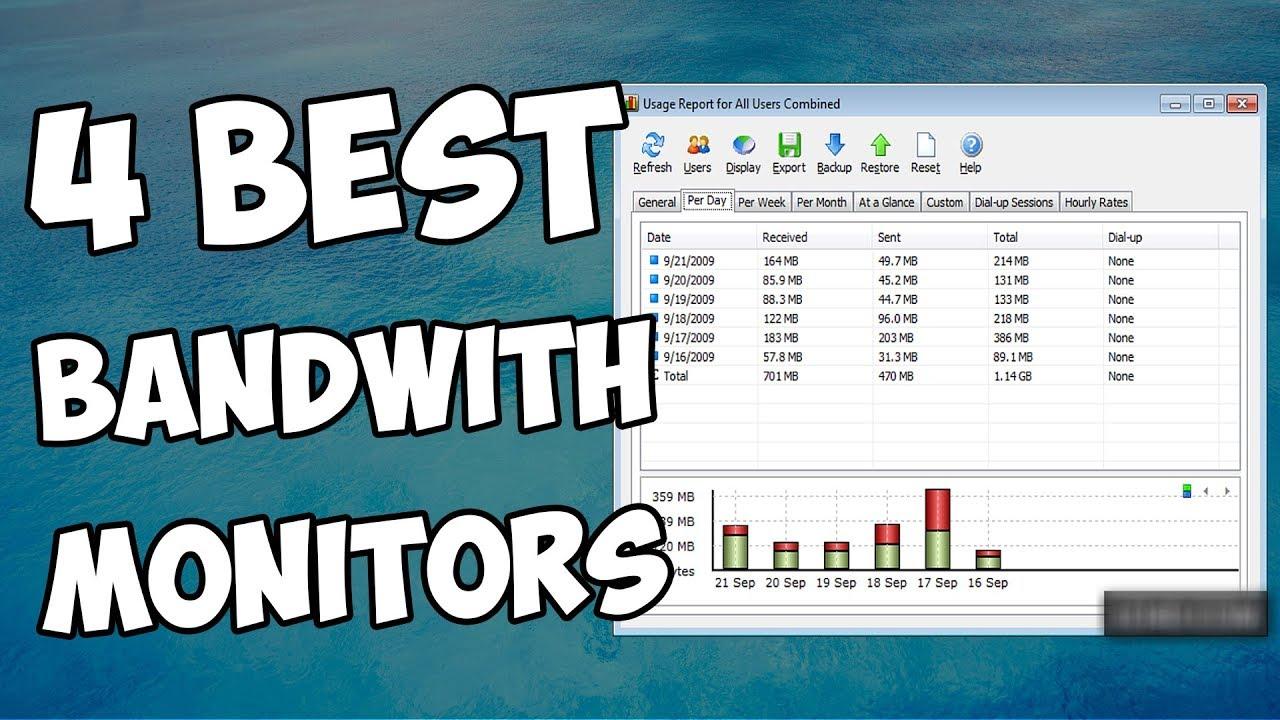 Best bandwidth monitors for Windows 10