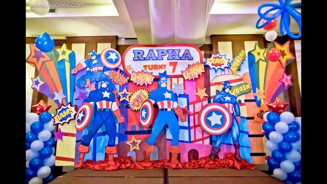 Raphas Captain America 7th Birthday At Manila Polo Club