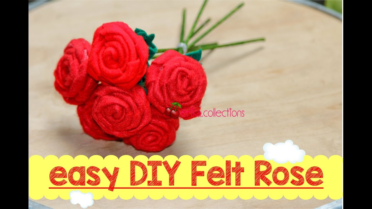 Felt Craft Tutorial Rose