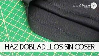 Aprende a hacer dobladillos sin coser usando cinta adhesiva mágica!, esta es una cinta especial para dobladillos la cual tiene pegamento por ambas caras y ...