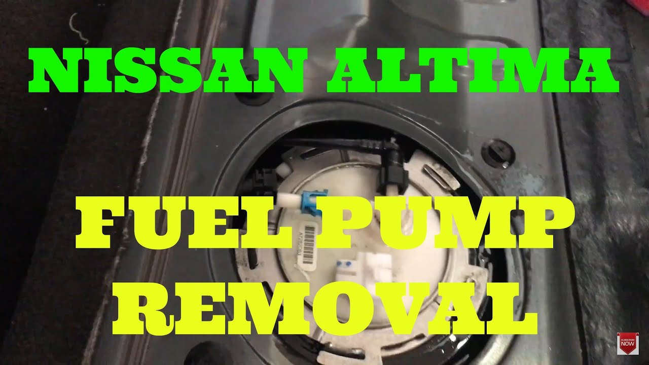 How To Install Fuel Pump Replacement In A 2004 2008 Nissan Maxima Murano Fuse Diagram Altima