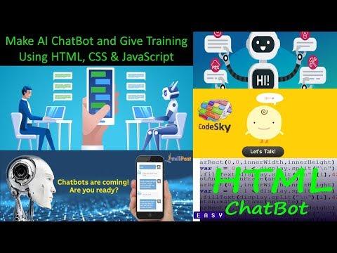 How To  Make AI ChatBot Using HTML CSS And JavaScript || Make AI Chatbot And Give Training