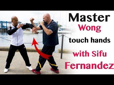 master wong touch hands with Wing Chun sifu fernandez | Wing Chun