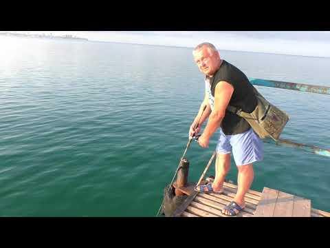 Анапа Джемете рыбалка на пляже 25.08.2018