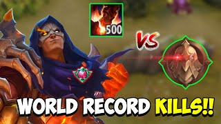 WHEN GLOBAL ALDOUS 500 STACKS PLAY IN WARRIOR RANK (World Record Kills) - Mobile Legends
