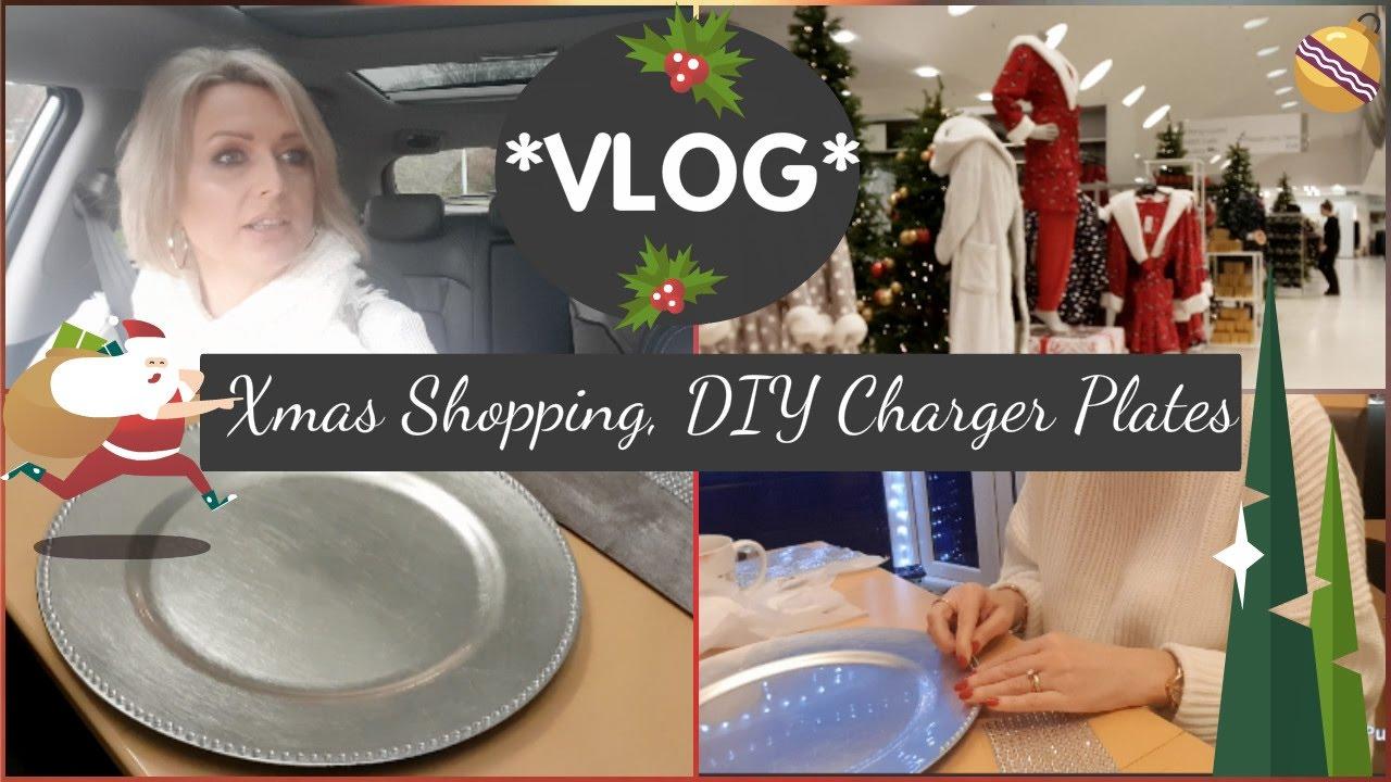 Vlog Christmas Ping Diy Charger Plates