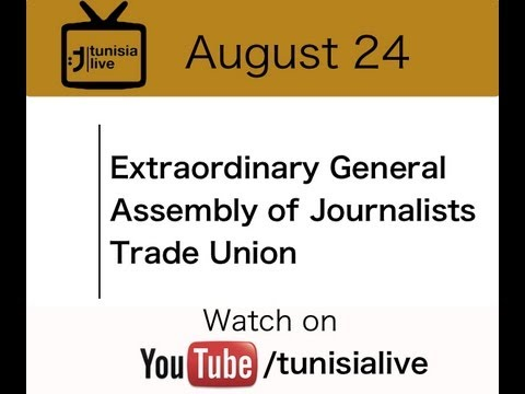 Live General assembly of the journlists' union