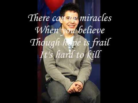 David Archuleta - When You Believe+lyrics!