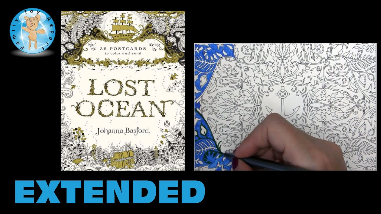 Lost Ocean By Johanna Basford Adult Coloring Book Postcards Anchor Extended