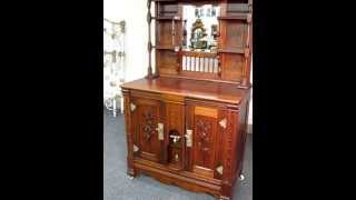 Walnut Victorian Sideboard Style Ice Box For Sale