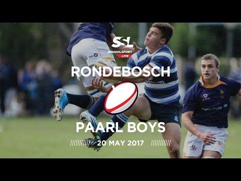 Rondebosch 1st XV vs Paarl Boys 1st XV, 20 May 2017