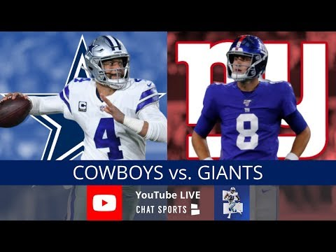 Cowboys Vs. Giants Live Stream Reaction & Updates On Highlights For NFL Monday Night Football Week 9
