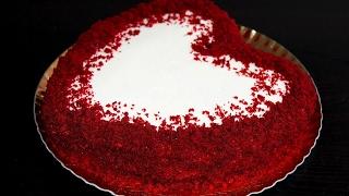Торт Сердце. Торт Красный бархат. Сборка торта. Торт на День влюблённых. Моя Dolce vita