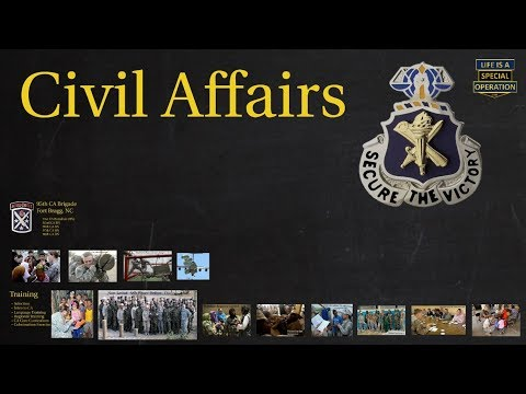 Civil Affairs Explained - What Is CA?