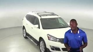 A96817GP - Used, 2015, Chevrolet Traverse, LT, SUV, White, Test Drive, Review, For Sale -