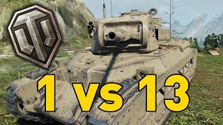 World of Tanks || 1 vs 13 - Matilda