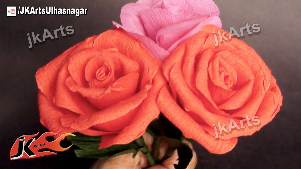 how to make tissue paper roses youtube