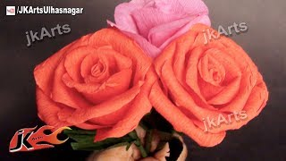 Watch now: Dry Flower Making, Rose with Areca Nut Leaves