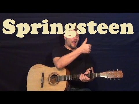 Springsteen Eric Church Easy Guitar Lesson Strum Chords Licks How