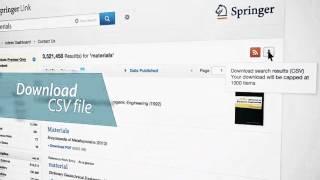 Searching & Browsing - SpringerLink Tutorial - Spanish (Latin America)