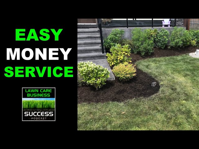 Small Garden Bed Cleanup And Bark Mulch Job | Easy Money Add On Service For Your Lawn Care Business