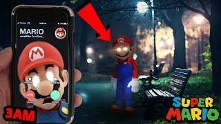 (MARIO GHOST CAUGHT) CALLING MARIO ON FACETIME AT 3AM | OMG HE ACTUALLY ANSWERED (MARIO IS HERE)