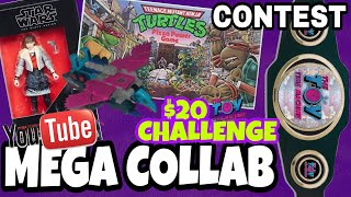 MEGA TOY HUNT YOUTUBER COLLAB $20 CHALLENGE and CONTEST
