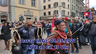 Schweiz: Covid-19 Spaziergang in Aarau –  Interviews, Festnahmen, Eindrücke, Polizeigewalt