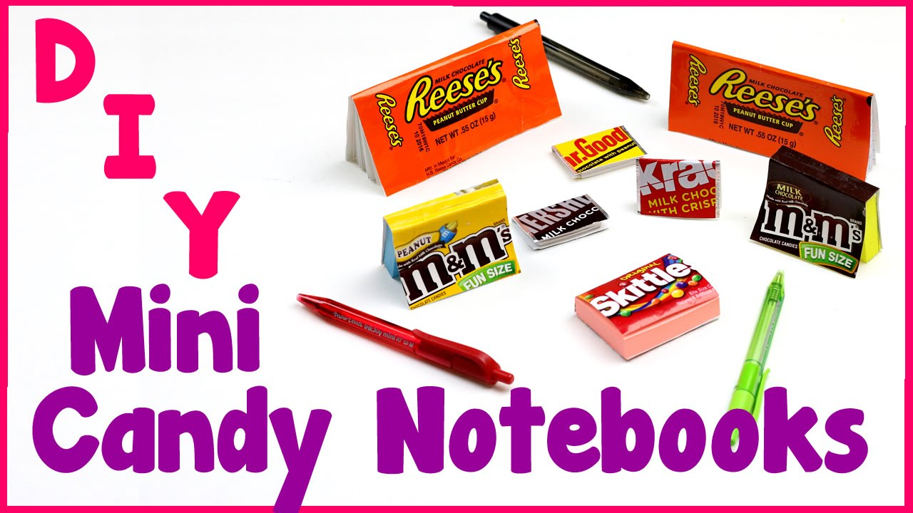 Diy Crafts 7 Easy Diy Miniature Candy Notebooks Cool Unique