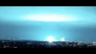 NYC UFO or Power Plant or Project Blue Beam or EBE New York City Aliens Light Alien