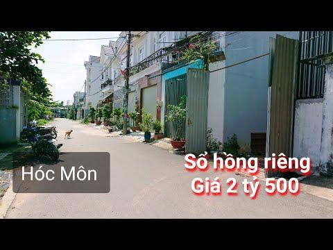 [Hót] Bán đất sổ hồng riêng khu dân cư Bà Điểm 2 huyện Hóc Môn. Giá 2 tỷ 500