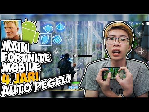 Main Fortnite Mobile Di Android Pakai 4 Jari Susah Banget! (4 Finger Claw) ?✋ - 동영상