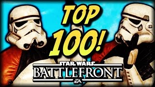 TOP 100 STAR WARS BATTLEFRONT UNFORTUNATE MOMENTS 2016!