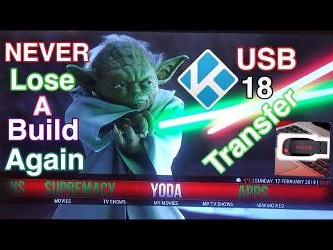 USB BACKUP KODI 18 TRANSFER AND BACKUP YOUR BUILD