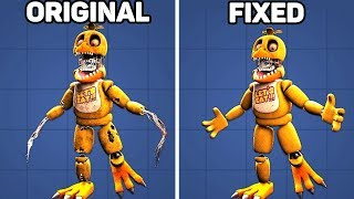 Fixed VS. Original Animatronics in Five Nights at Freddy's #2