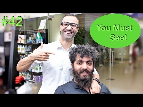 Crazy Haircut Transformation ✔︎ Beard & Men's Hairstyle (Barber Tutorial 2018) USA/Dubai
