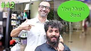 Crazy Haircut Transformation ✔︎ Beard & Men's Hairstyle (Barber Tutorial 2018) USA/Dubai